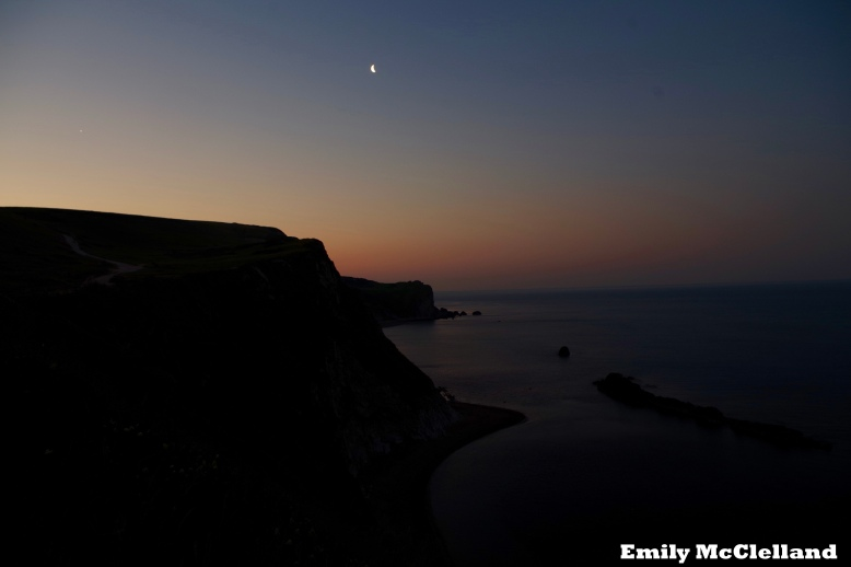 Stunning views of the Jurassic Coast at first light