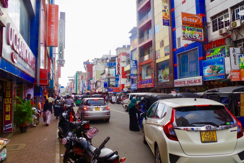 A busy street in Colombo