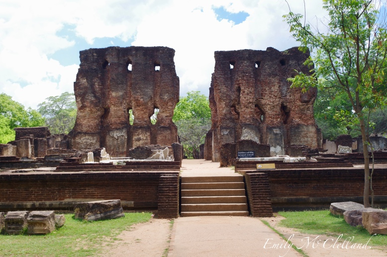 The Royal Palace ruins of Polonnaruwa