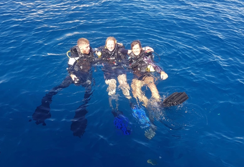 Myself and the Mojo Dive Instructors